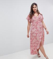 Платье с запахом и цветочным принтом AX Paris Plus - Выбирай и комбини 1235324