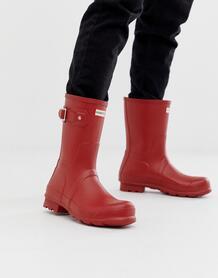 Короткие резиновые сапоги красного цвета Hunter - Красный 1227796