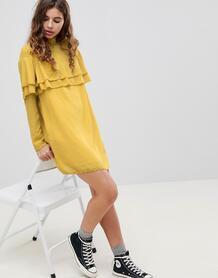 Платье с оборкой Glamorous - Желтый 1174997