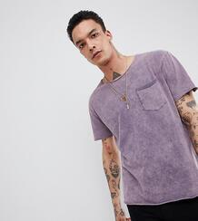 Выбеленная свободная футболка Heart & Dagger - Фиолетовый 1225456