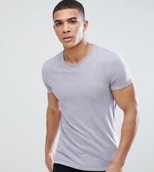 Обтягивающая футболка с вышивкой Heart & Dagger - Фиолетовый 1225442