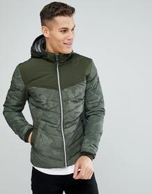 Дутая куртка с камуфляжным принтом Tom Tailor - Зеленый 1220118