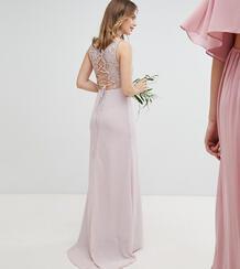 Платье макси со шнуровкой на спине TFNC Petite - Коричневый 1181768