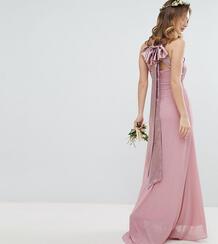 Плиссированное платье макси TFNC Petite - Розовый 1181765