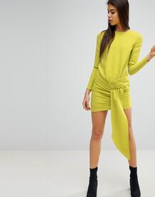 Платье мини с драпировкой спереди Missguided - Зеленый 1236264