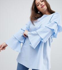Платье-туника с ярусными рукавами AX Paris Plus - Синий 1233063