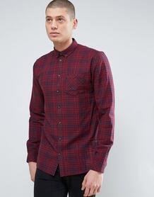 Плотная фланелевая рубашка в клетку Minimum - Красный 906389