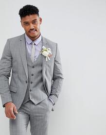 Серый приталенный блейзер в клетку River Island wedding - Серый 1234635