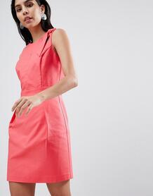 Приталенное платье Sisley - Розовый 1261585