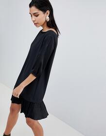 Платье с заниженной линией талии Sisley - Черный 1261582