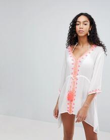 Пляжное платье с отделкой Liquorish - Белый 1172507