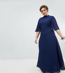 Платье макси с высоким воротом и расклешенными рукавами TFNC Plus 1181769