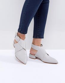 Кожаные туфли ASOS MATLOCK - Серый ASOS DESIGN 1155879