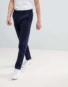 Облегающие трикотажные брюки Selected Homme - Темно-синий 1247716