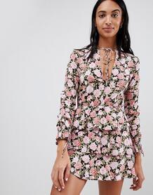 Чайное платье с цветочным принтом Motel - Мульти 1229221