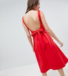Приталенное платье миди True Violet Tall - Красный 1159446