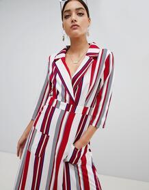 Платье-рубашка макси в полоску PrettyLittleThing - Мульти 1233930