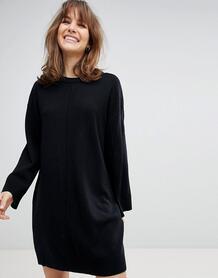 Свободное платье с широкими рукавами ASOS DESIGN - Черный 1206216