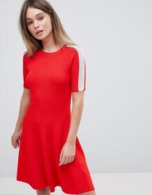 Короткое приталенное платье Tommy Hilfiger - Красный 1242495