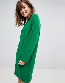 Oversize-платье с широкими рукавами ASOS - Зеленый ASOS DESIGN 1206125