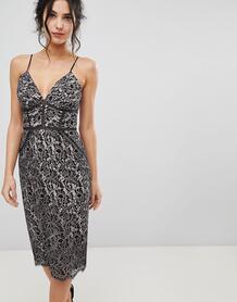 Платье-футляр с кружевом и вышивкой Forever New - Розовый 1197654
