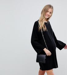 Свободное платье с широкими рукавами ASOS DESIGN Maternity - Черный Asos Maternity 1208412
