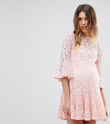 Кружевное свободное платье Queen Bee - Розовый 1225162