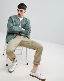 Куртка на подкладке из искуcственного меха Weekday Impasto - Зеленый 1212839