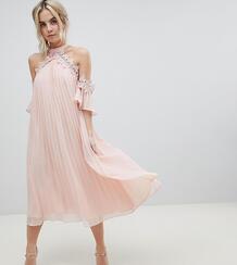 Свободное платье с плиссировкой и вырезами на плечах True Decadence Pe True Decadence Petite 1186439
