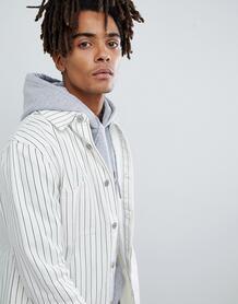 Белая джинсовая куртка в тонкую полоску Mennace - Белый 1255321