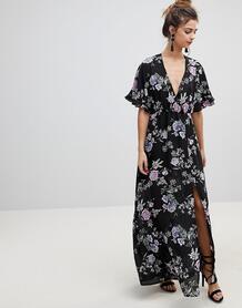 Платье макси с широкими рукавами Oh My Love - Черный 1221233