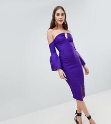 Платье-футляр с открытыми плечами и пышными рукавами Vesper Tall 1160265