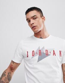 Белая футболка с логотипом в стиле ретро Nike Jordan 908007-100 1150224