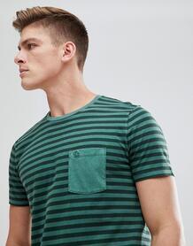 Зеленая футболка в полоску с карманом Abercrombie & Fitch - Зеленый Abercrombie& Fitch 1204889