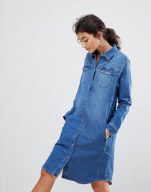 Джинсовое платье в стиле вестерн Lee - Синий 1236269