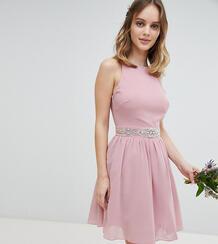 Платье миди с пышной юбкой TFNC Petite - Розовый 1188542