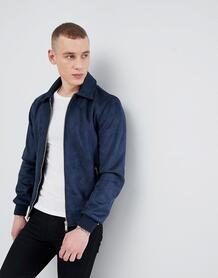 Темно-синяя куртка Харрингтон из искусственной замши River Island 1265845