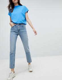Джинсы в винтажном стиле с завышенной талией Weekday Seattle - Синий 1175996