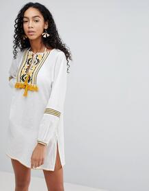 Пляжное платье с вышивкой Liquorish - Белый 1173036