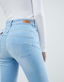 Зауженные джинсы пуш-ап с завышенной талией Salsa Glamour - Синий 1238546