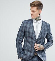 Облегающий пиджак в клетку Heart & Dagger - Серый 1180047