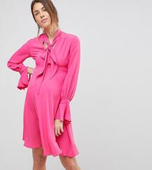 Платье с завязкой на вороте Queen Bee - Розовый 1225166