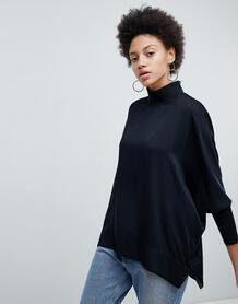 Блузка с высоким воротом Selected - Черный 1215355