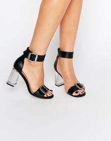 Сандалии на прозрачном каблуке ASOS HOOLA - Черный 911686