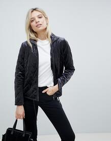 Стеганая бархатная куртка b.Young - Черный 1112014