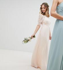 Платье макси с плиссировкой TFNC Petite - Розовый 1181770