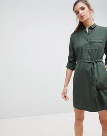 Платье-рубашка с поясом Jack Wills Helford - Зеленый 1226159