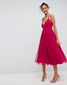 Платье миди из тюля ASOS - Мульти ASOS DESIGN 1151207