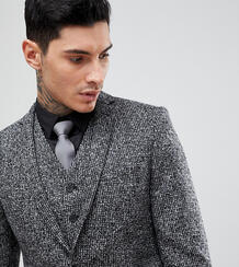 Облегающий пиджак из английской шерсти Heart & Dagger - Серый 1180062