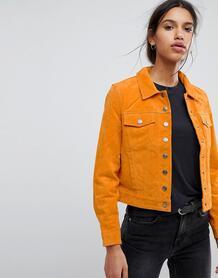 Замшевая куртка Selected Femme - Рыжий 1215353